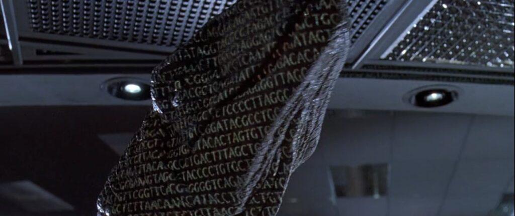 『ジュラシック・パーク』のトリビア_クライマックスでラプトルに映る文字列は…